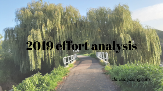 2019 effort analysis