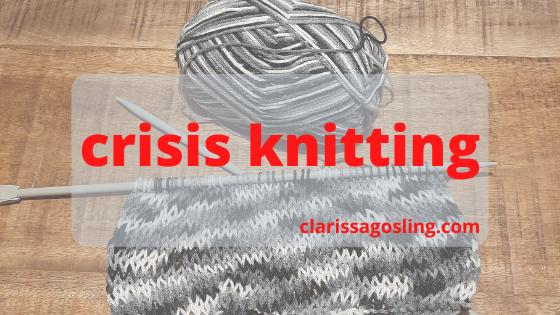 crisis knitting