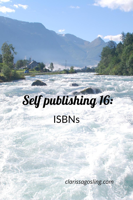 Self-publishing 16: ISBNs