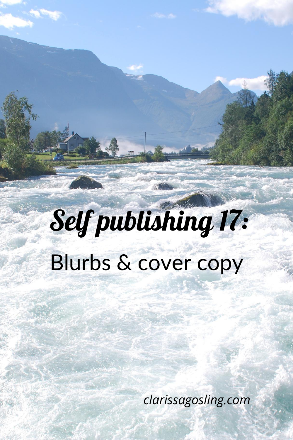 Self-publishing 17: Blurbs & cover copy